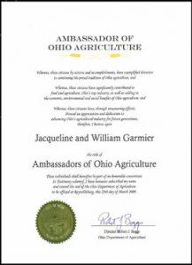 Ambassonador of Ohio Agriculture